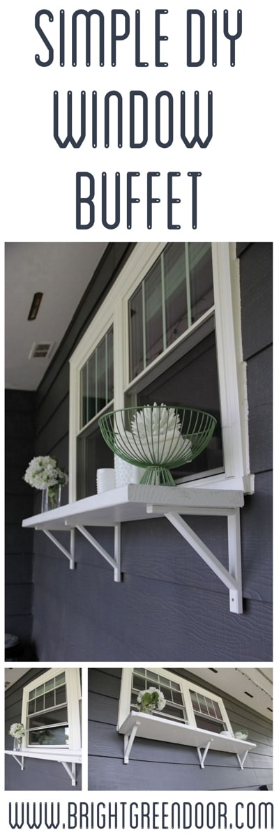 Simple DIY Window Buffet