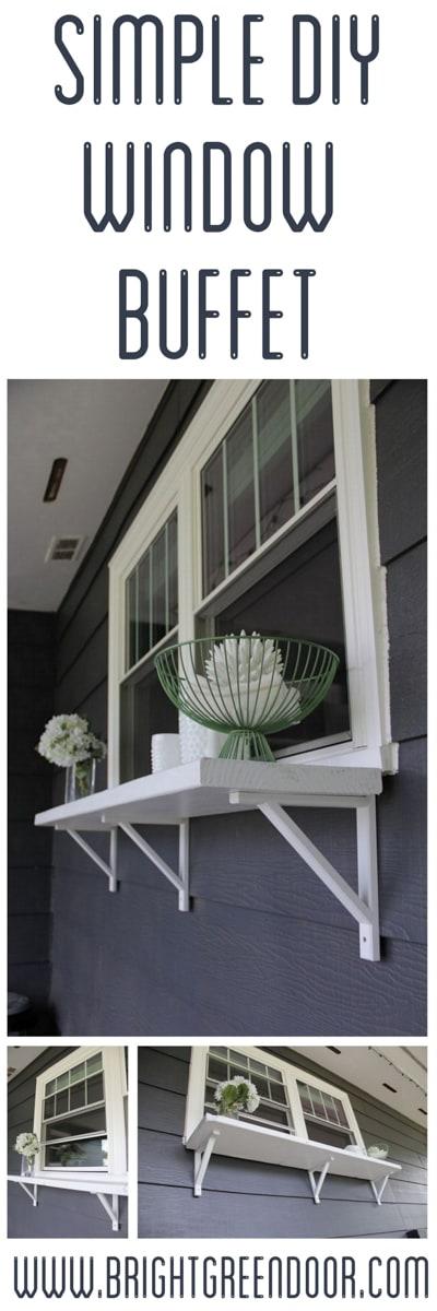 Simple DIY Window Buffet