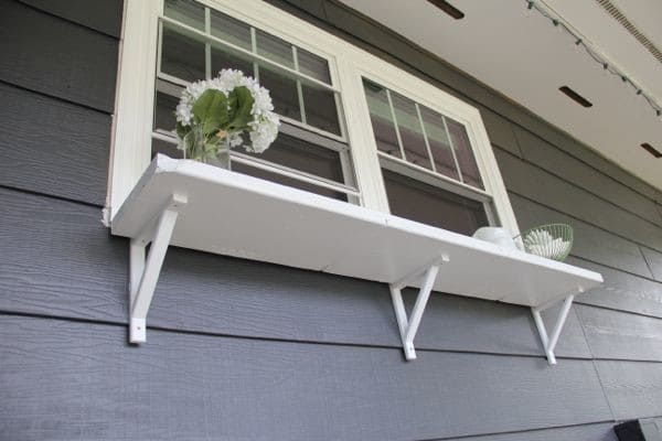 DIY Window Buffet Outside