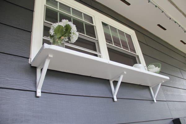 DIY Window Buffet Outside