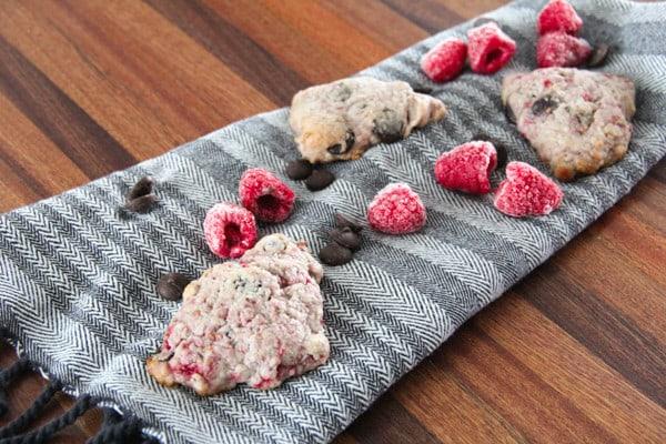 Raspberry Dark Chocolate Scones
