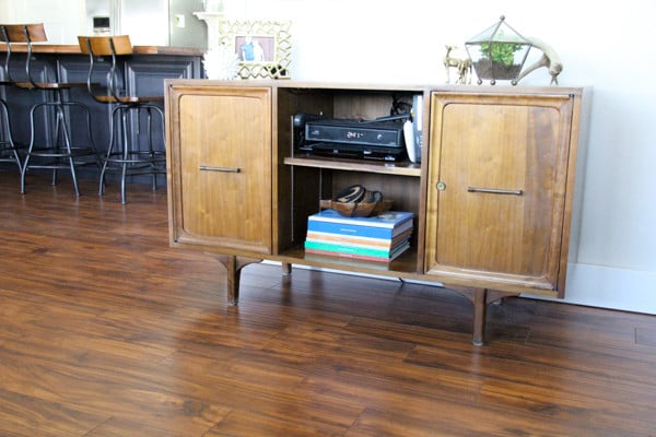 Mid Century Modern Credenza as Entertainment Center