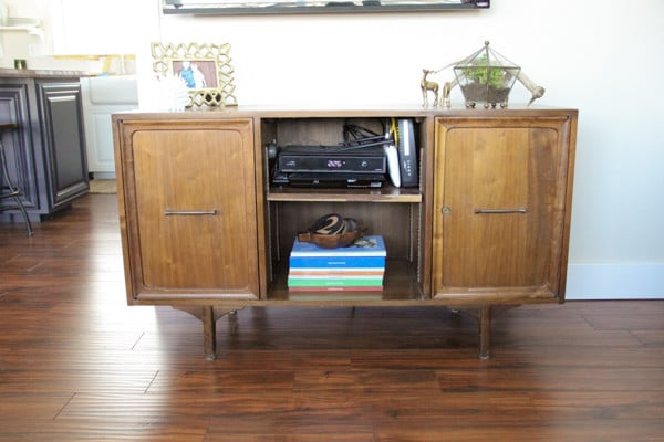 Mid Century Credenza into an Entertainment Center