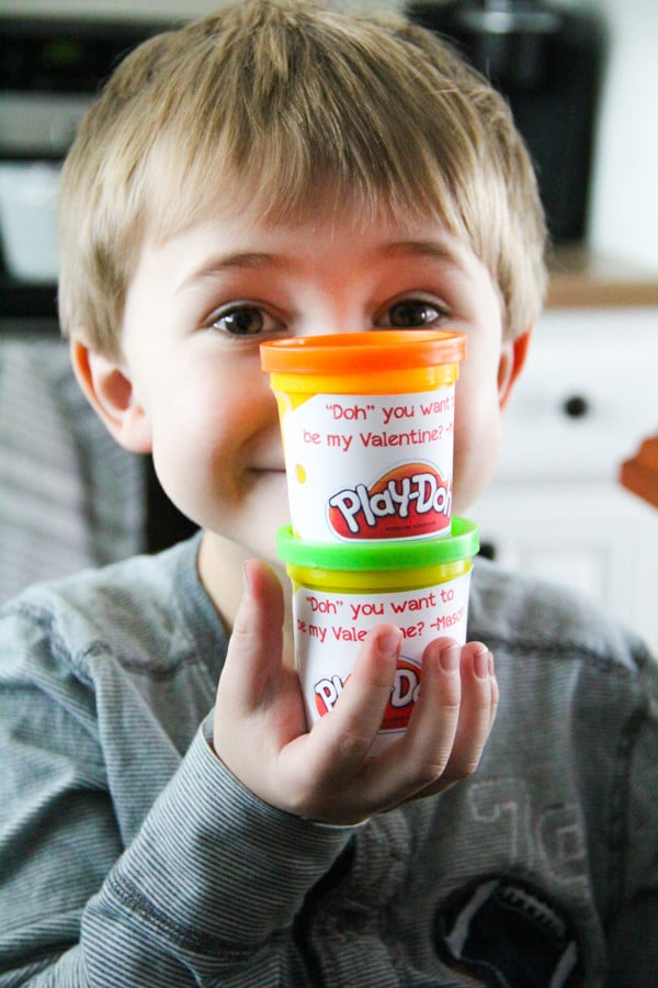 Kid's Valentines with Play-Doh