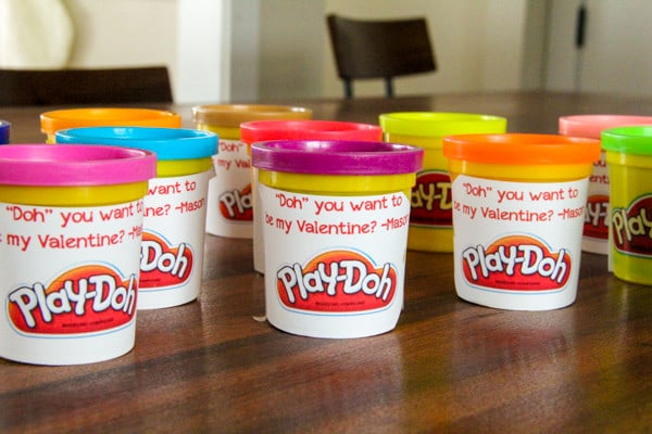 Play-Doh Valentine Ideas