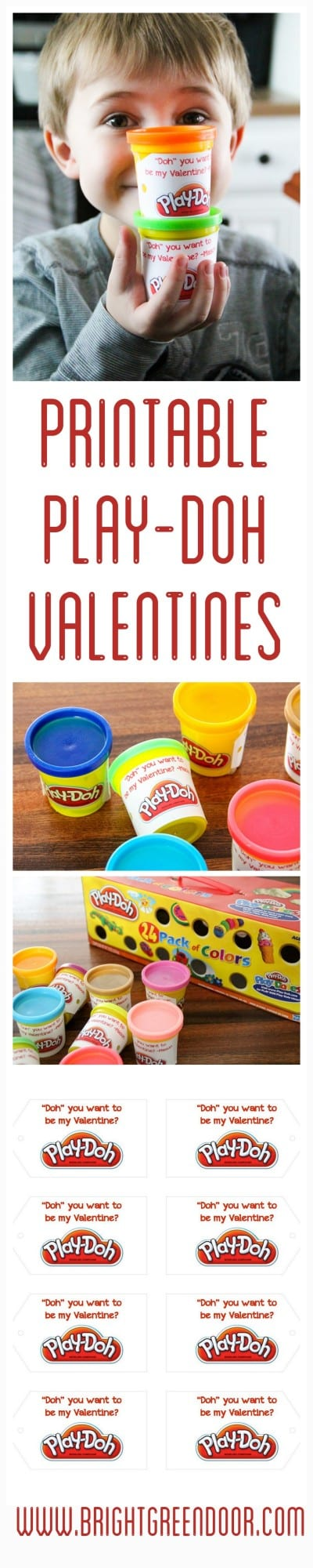 Printable Play-Doh Valentines