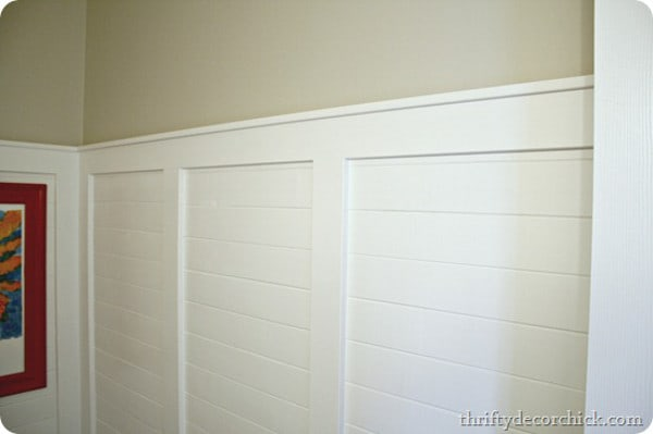 Planked Walls with Picture Ledge