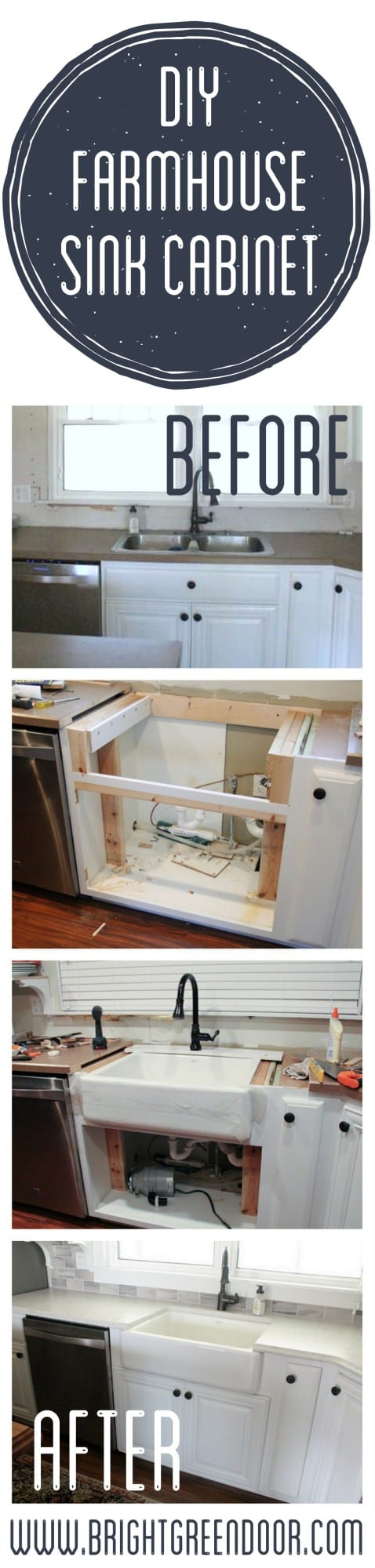 Installing a Farmhouse Sink into an Existing Cabinet