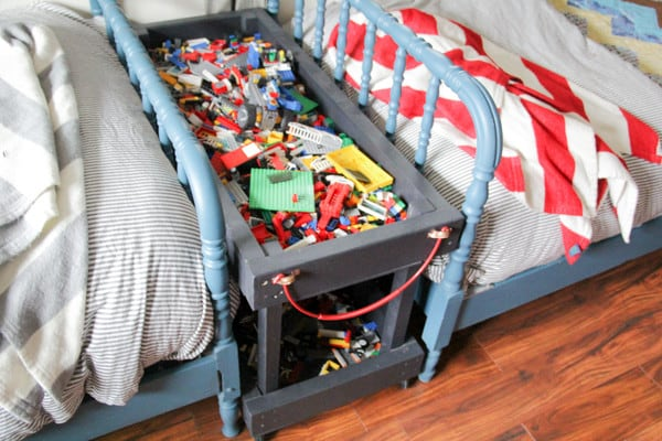 Lego Storage Tray with Wheels