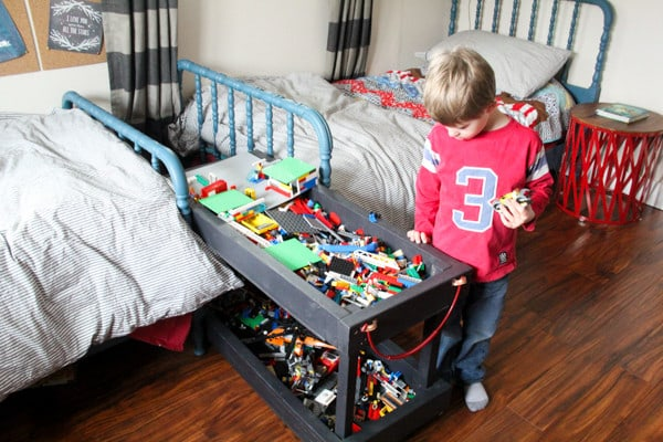 DIY Rolling Lego Play Cart