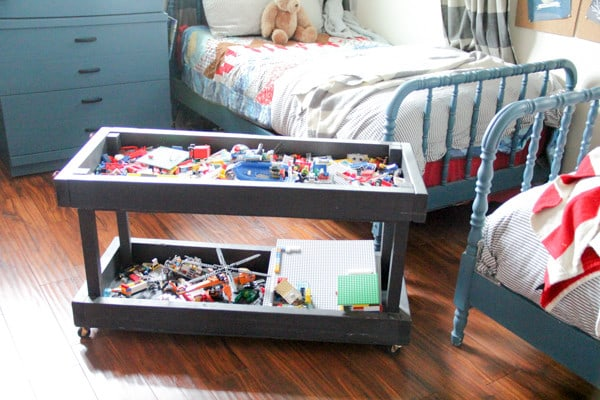 Rolling Lego Storage Play Cart