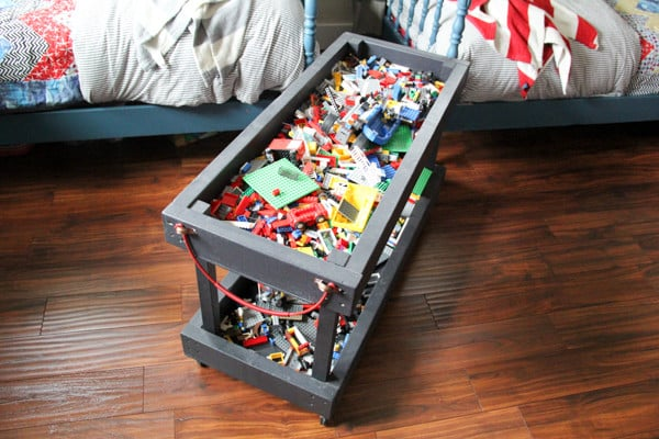 Rolling Lego Storage and Play Tray