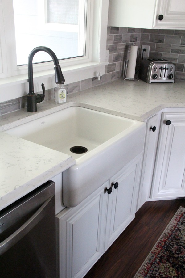 How to Install a Farmhouse Sink into Existing Cabinets