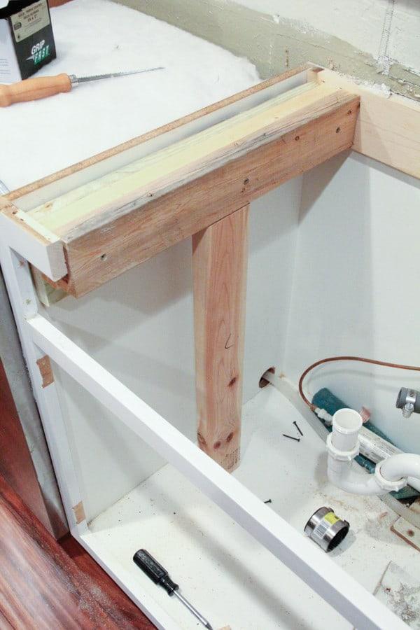 Farmhouse Sink Cabinet Conversion