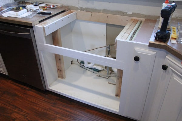 Existing Cabinet Base for Farmhouse sink