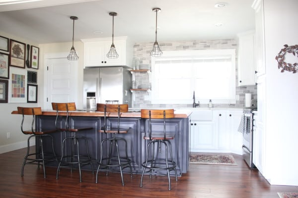 BrightGreenDoor Two Tone Kitchen - House Flipping Tips