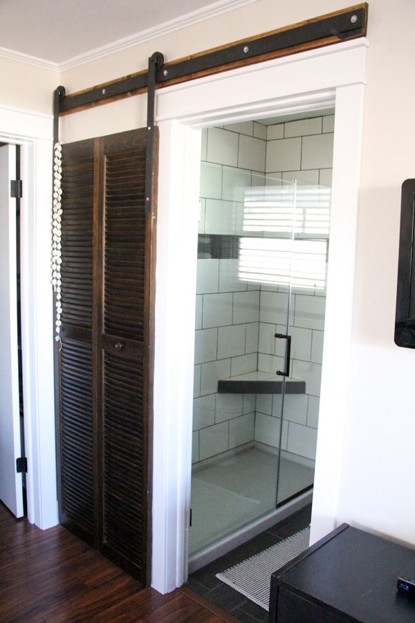 Modern Bathroom with Barn Door