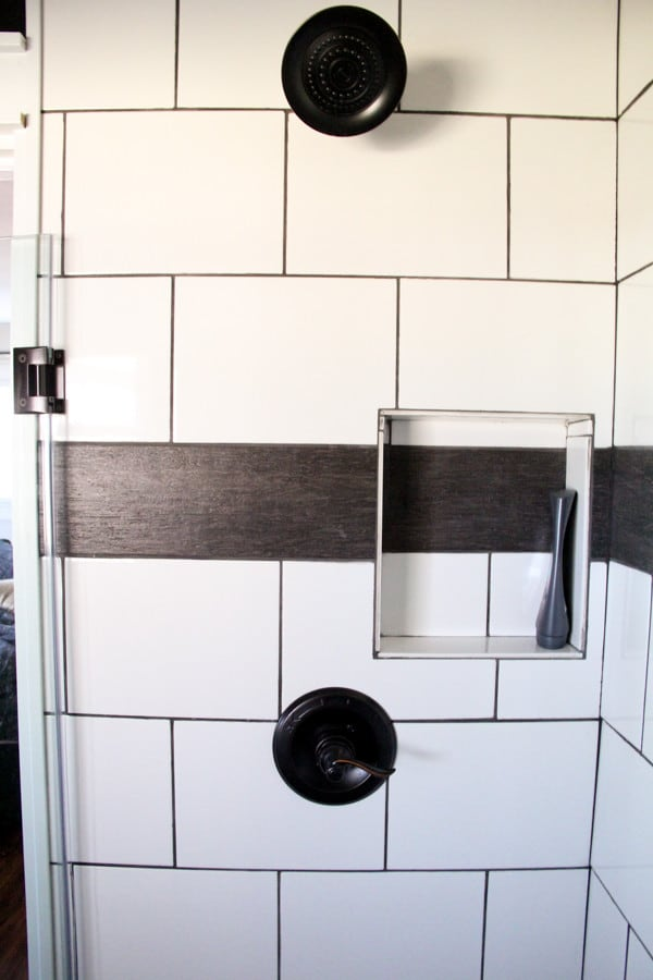 Black and White Modern Shower