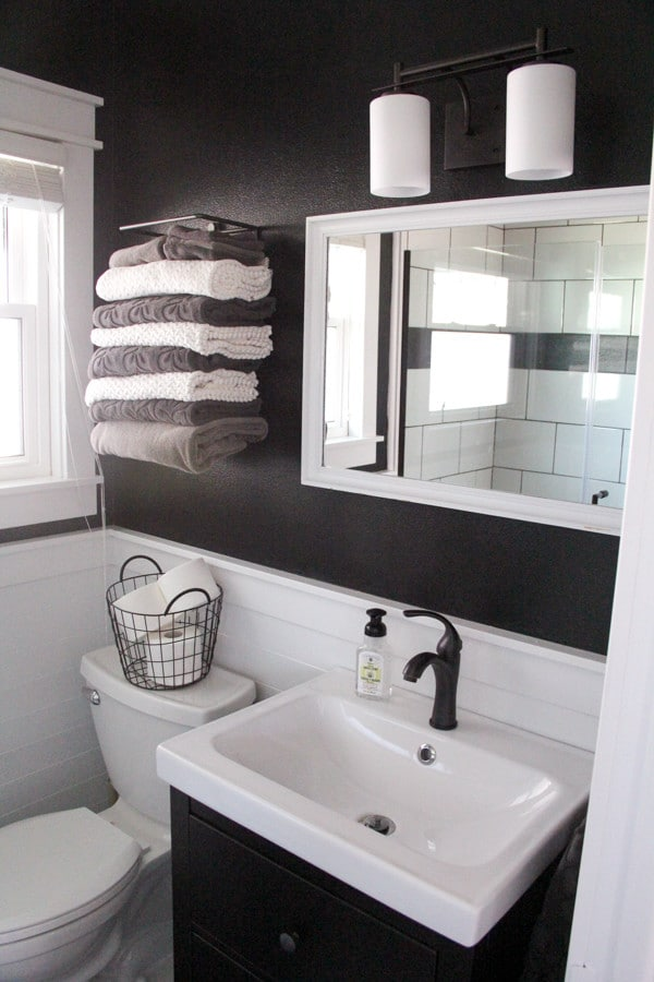 Modern Storage in Small Bathroom