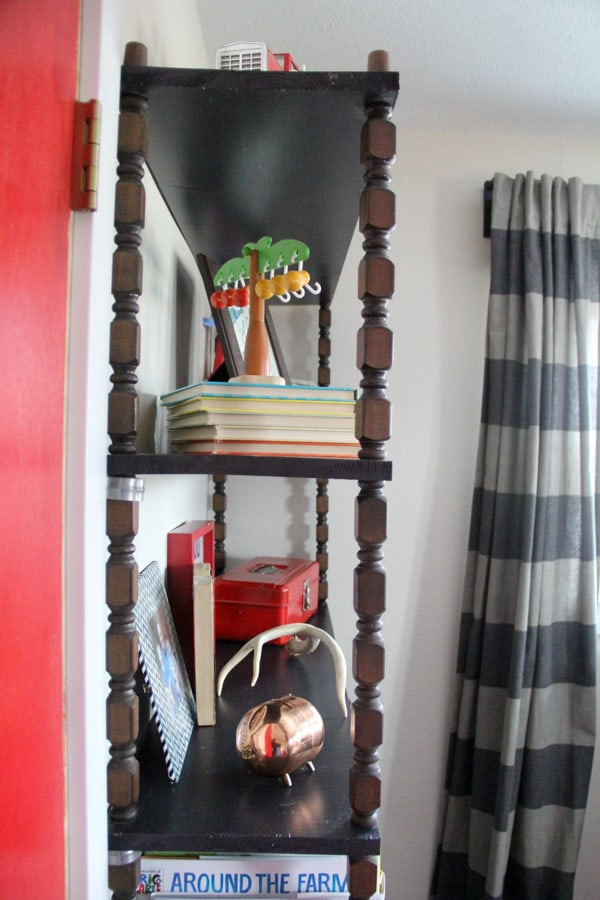 Modern Shelving made with Vintage Spindles