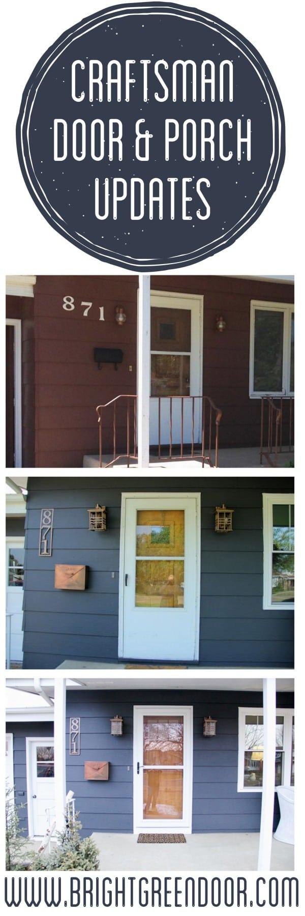 Craftsman Door and Porch Updates