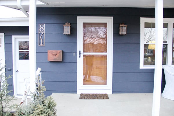 Wood Door with Storm Door