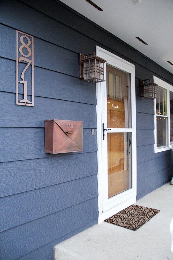 Craftsman Front Door - Bright Green Door