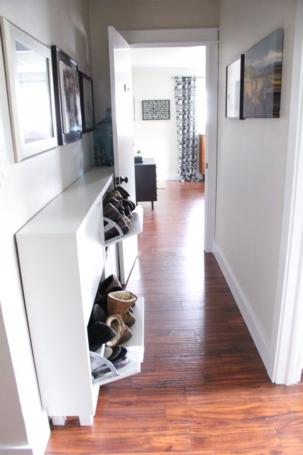Shoe Cabinet in Hallway
