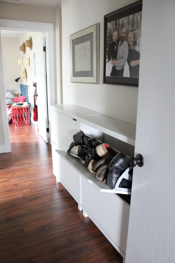 Shoe Storage in Hallway