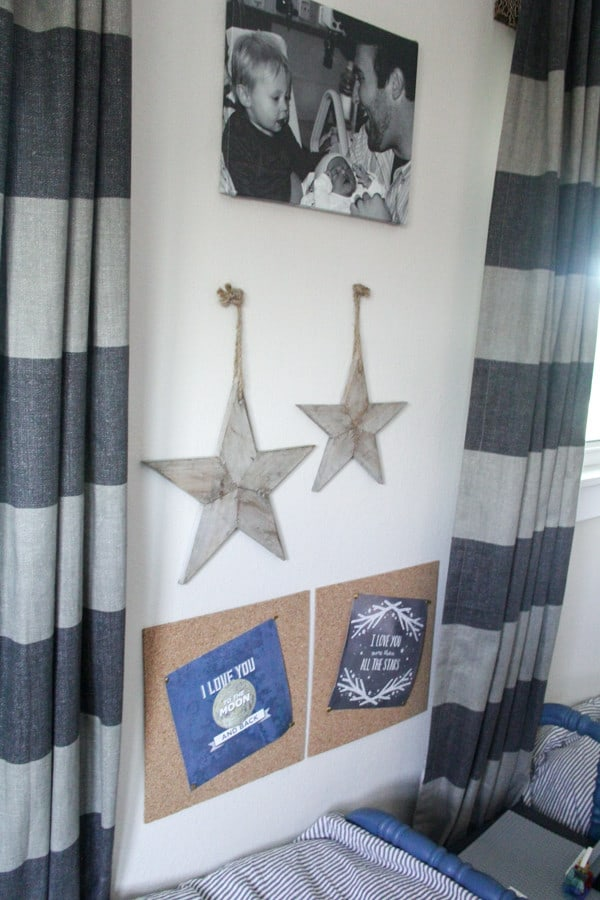 Boys Bedroom Gallery Wall