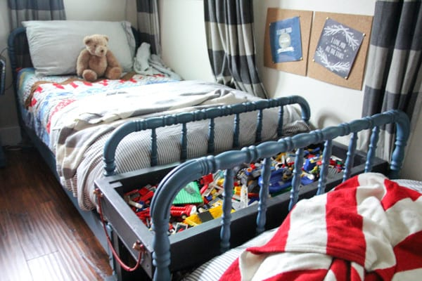 Vintage Jenny Lind Beds in Boys Shared Room
