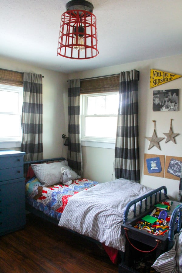 Vintage Modern Boys Bedroom with Jenny Lind Beds