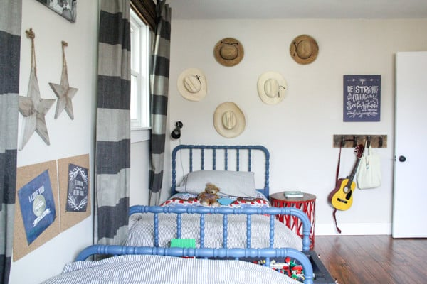 Vintage Jenny Lind Beds in Boys Room
