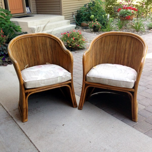 Bamboo Chair Makeover