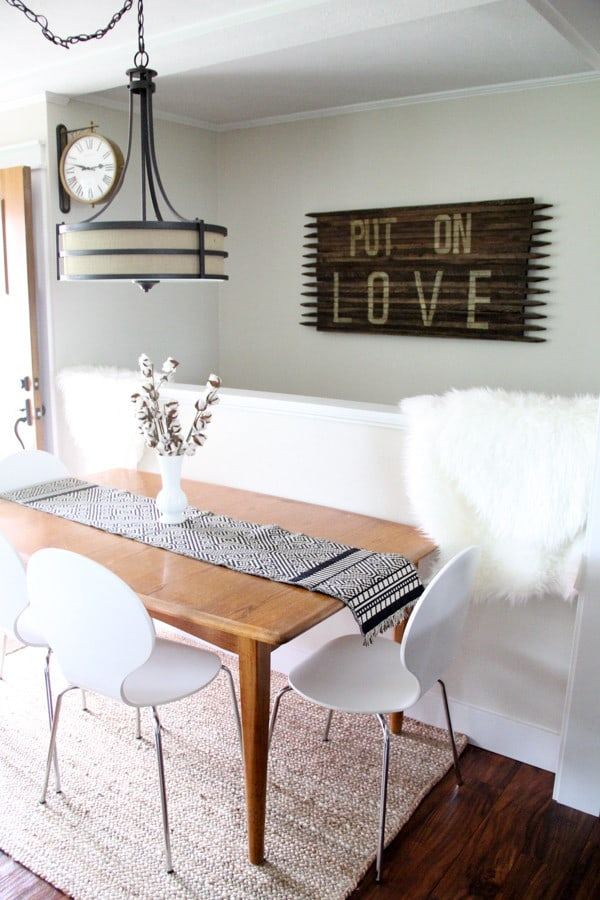 Dining Space in a Living Room