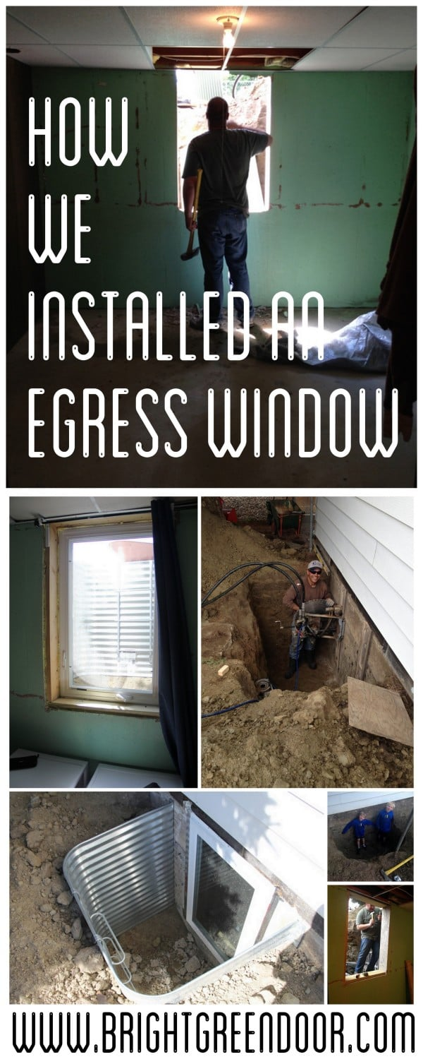 How we installed an egress window