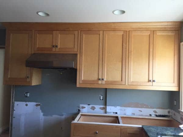 Our Craigslist Kitchen Cabinets - Bright Green Door