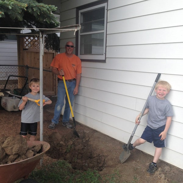 Digging Hole for Egress Window