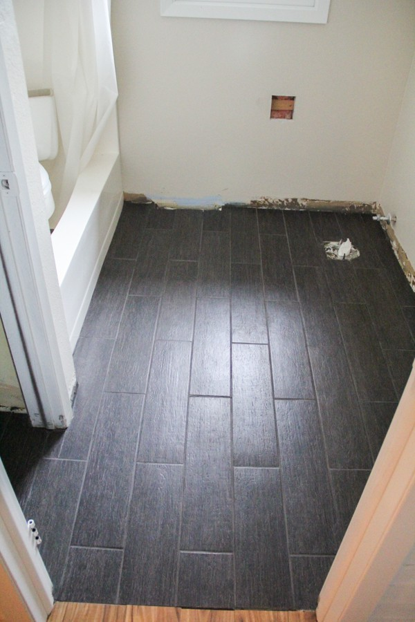 Diy Plank Tile Floor Fail Bright Green Door