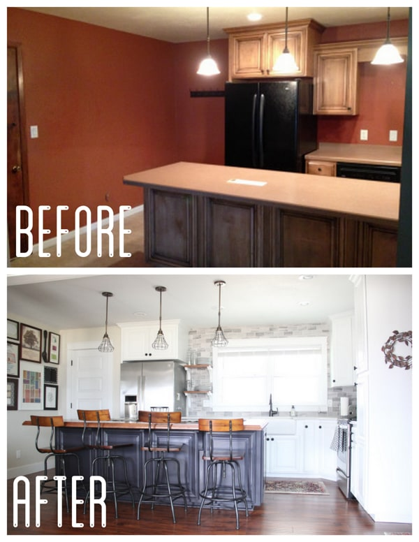 Kitchen Updates by Painting Cabinets