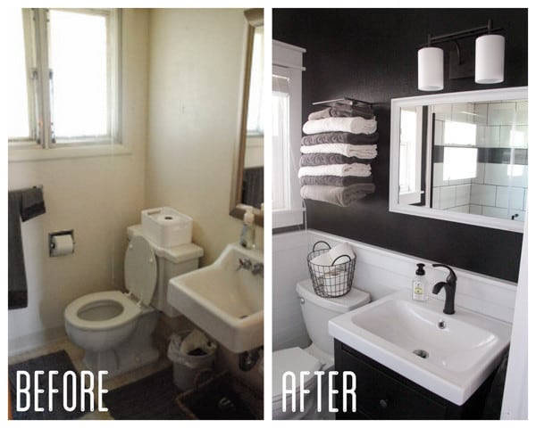 Modern Black and White Bathroom