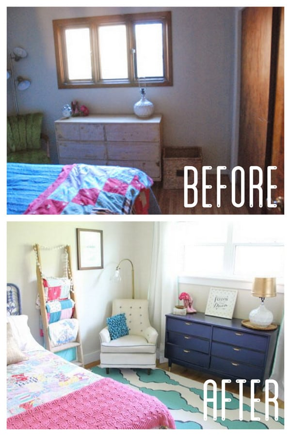 Vintage Modern Girls Bedroom