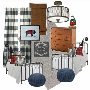 Vintage Modern Paul Bunyan Boys Room