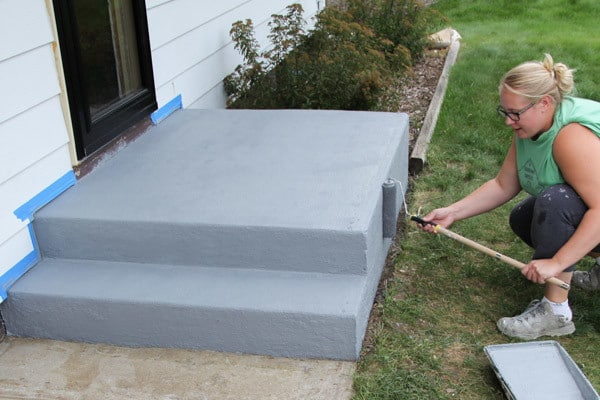 Painting Cement Steps