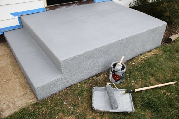Painting Concrete Front Stoop