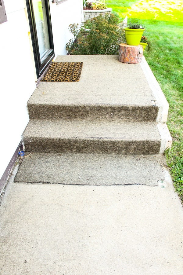 Removing Carpet from Porch Step