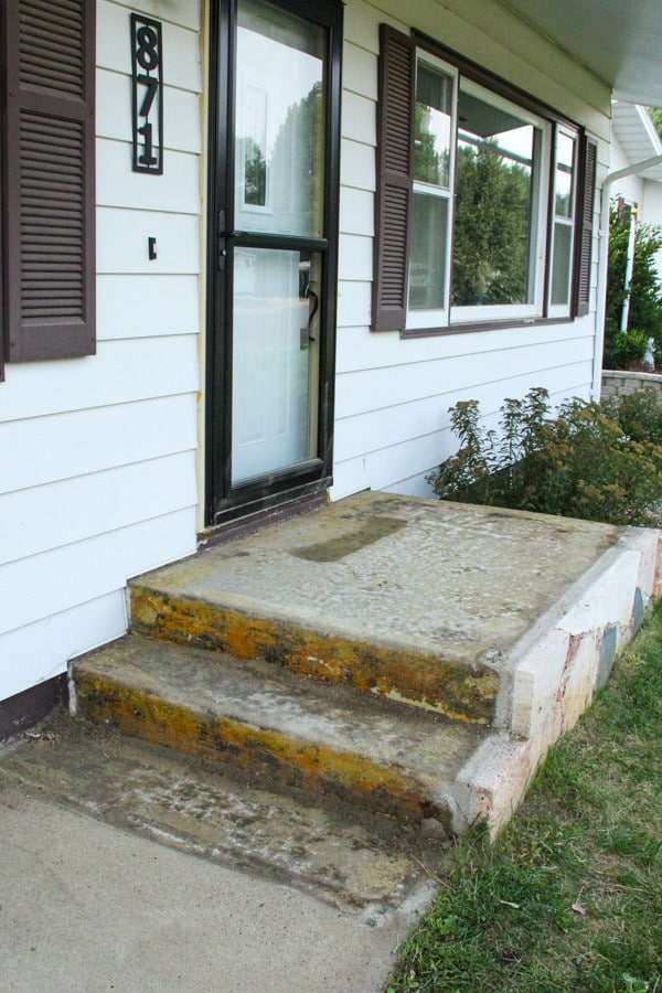 Removing Rocks from Front Steps