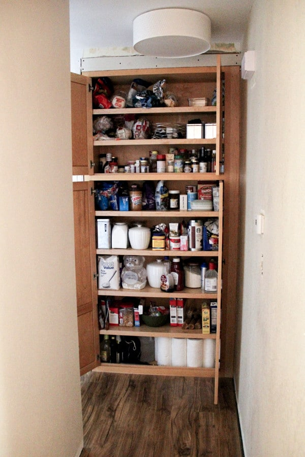 Building a Pantry into a Closet-18
