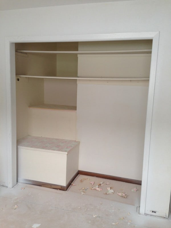 Building a Pantry into a Closet-3