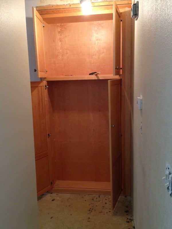 Building a Pantry into a Closet-7